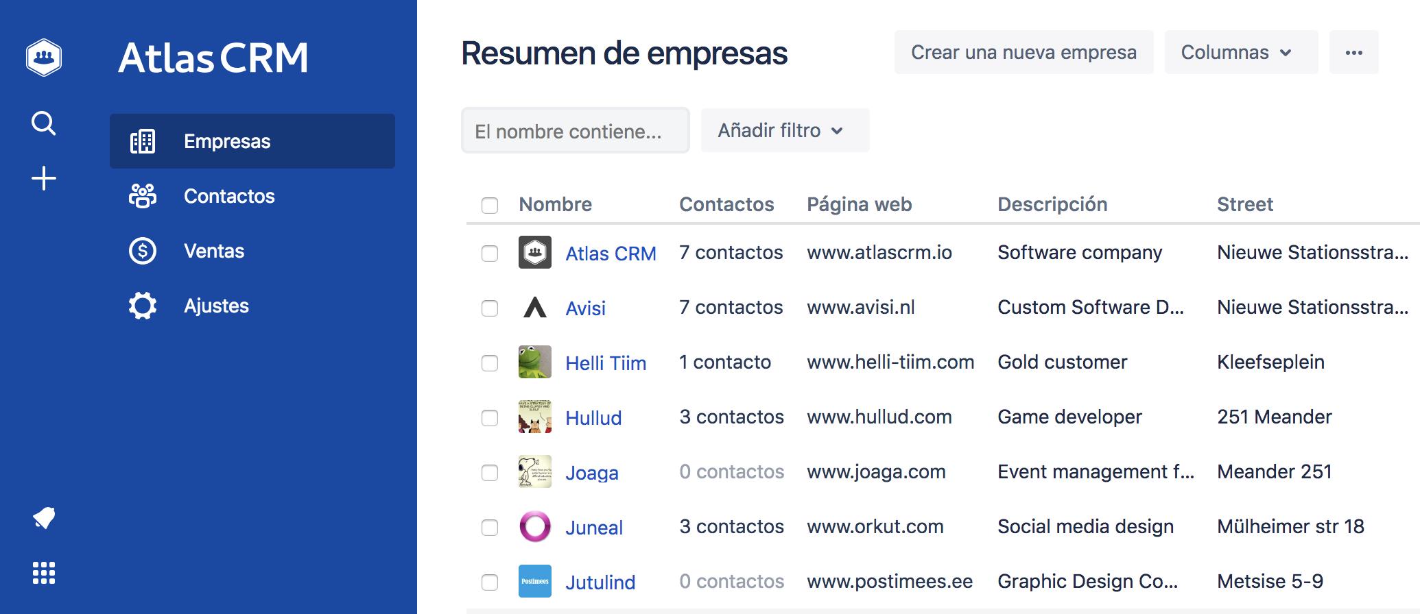 Atlas CRM in Spanish