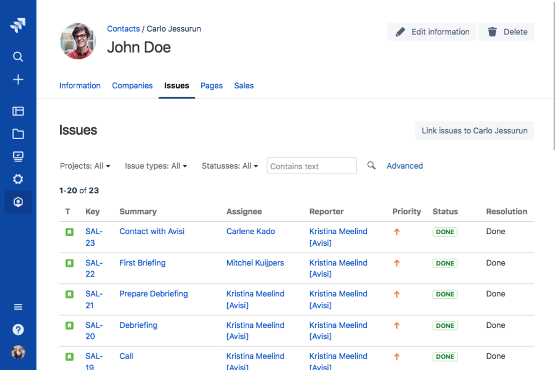 Link customers to Jira issues with Atlas CRM